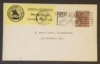 1941 Guelph to Tillsonburg Ontario Canada Opticians Advertising Postcard Cover