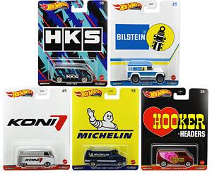 Hot Wheels 2021 Premium Pop Culture Speed Shop Garage Complete Set 1-5