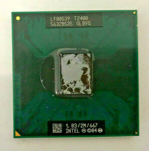 INTEL Core Duo T2400 SL8VQ MOBILE - 1,83GHz / 2M / 667 - Sockel M #812