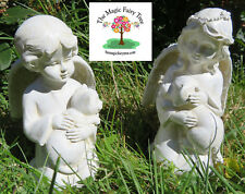 12cm Dog Cat Pet Memorial Statue - Angel holding a dog or a cat