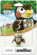 Nintendo AMIIBO Animal Crossing Blathers Figure New Sealed Official Wii U 3DS