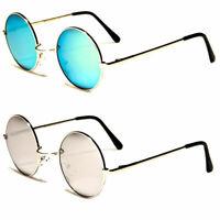 Vintage John Lennon Style Retro Classic Circle Round Mirror Sunglasses Men Woman