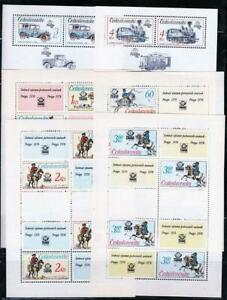 CZECHOSLOVAKIA 1960/80's COLLECTION of 6 S/S MNH PAINTINGS, TRANSPORT, HORSES