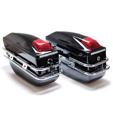 Black Hard Saddle Bag Trunk Luggage Storage Mount Bracket Motorcycle Cruiser TB