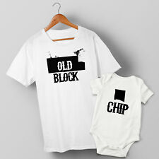 Chip Off the Old Block - Father & Baby Son or Daughter T-shirt & Baby Grow Set