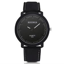 Fashion Mens Women's Casual Retro Leather Band Analog Quartz Wrist Watch 4Types
