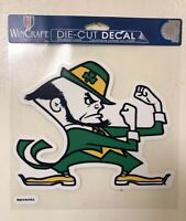 "NOTRE DAME FIGHTING IRISH Mascot 8""X8"" DIE CUT DECAL CAR HOME BRAND NEW WINCRAFT"