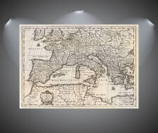 Vintage World Map of Europe Poster Art Print - A0 A1, A2, A3, A4 sizes
