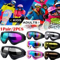 2Pack Snow Ski Goggles Men Anti-fog Lens Snowboard Snowmobile Motorcycle Glasses