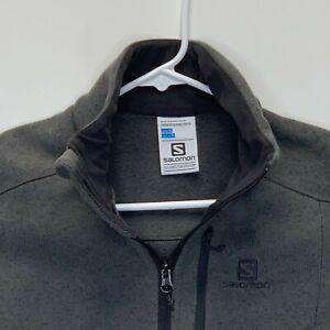 Salomon Mens Long Sleeve Pullover Gray Small