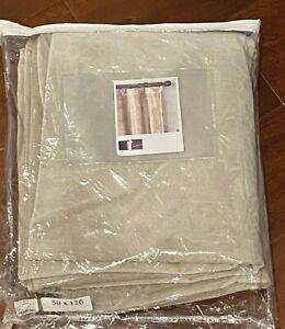 Single Restoration Hardware Vintage Velvet Curtain Taupe 126x50 Rod Pocket NEW