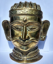 Ancien grand buste de Shiva en bronze Maharashtra Inde 18/19e