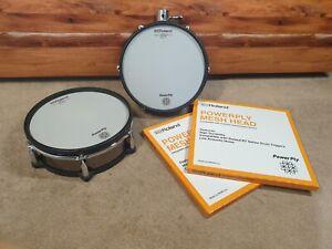 "2X Roland V-drum PD-128BC 12"" Black Chrome Dual Trigger Snare tom Mesh Drum Pad"