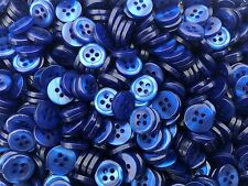 Royal Blue Shirt Boutons 4 Trous (12 pcs) taille 18 L 11.4 mm x 2.4 mm Pearl Effect