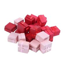 24-Piece Gift Box Set Cube Ring Jewelry Box for Anniversaries Weddings R1H9
