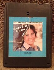 """Loretta Lynn """"Out Of My Head And Back In My Bed"""" 8 Track Stereo Cartridge - 1977"""