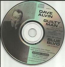 The Blasters DAVE ALVIN Guilty man PICTURE DISC PROMO DJ CD Single 1991 USA MINT