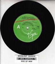 "MIKE OLDFIELD  Moonlight Shadow 7"" 45 rpm vinyl record + juke box title strip"