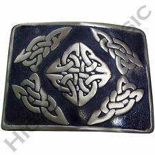 NUOVO H M Uomo Kilt Cintura Fibbia Celtica Diamond/Highland Fibbie finitura anticata