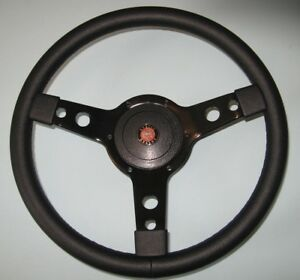 "New 14"" Vinyl Steering Wheel & Hub Adaptor Austin Healey Sprite Bugeye 1958-1963"