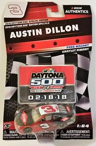 2018 Daytona 500 Special Edition NASCAR Authenics #3 Austin Dillon Chevy SS DOW