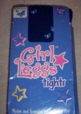 "Girls ""LEGGS"" blue tights with butterfly print size pre-teen M/L - NIB"