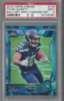 TYLER LOCKETT 2015 Topps Chrome RC Diamond REFRACTOR PSA 9 MINT HOT SEAHAWKS