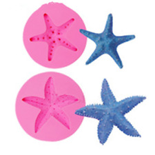 Starfish Silicone Mold for Chocolate,  Cake Decorating,Fondant, Crafts DIY 3D