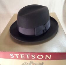 fad008fa0da88 Vintage Royal Stetson Black Fedora w  Box -- Sz 7 1 8 -