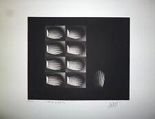 Mario Avati gravure originale 1968 signée numérotée Art Abstrait
