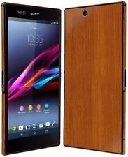Skinomi Light Wood Full Body Skin+Screen Protector Cover for Sony Xperia Z Ultra