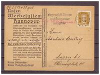 Deutsches Reich, Werbekarte MiNr. 385 TSt Hannover nach Leipzig 04.08.1928