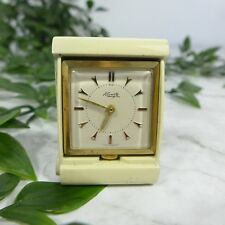 Antique KIENZLE Small Mini Square Gold Toned Travel Pocket Clock 1.75""