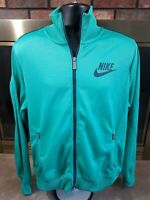 Vintage Nike Air Swoosh Track Warmup Jacket Coat Mens Size Large Green Full Zip
