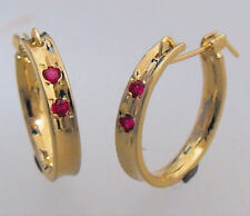 Yellow Gold Plated Ruby Fashion Jewellery