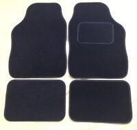 UNIVERSAL CAR FLOOR MATS BLACK WITH BLACK TRIM - VAUXHALL CORSA B C D E