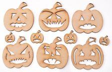 Halloween Wooden Laser Cut MDF Shape - Scary Big Pumpkin set - set of 10 items