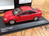 MINICHAMPS 430 049125 Opel coupe diecast model road car red 2000 Ltd Ed 1:43rd