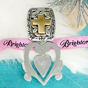 Brighton Gold Plate Cross Silver Plate Bookmark Each Day is a New Life Seize it