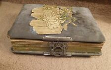VINTAGE VICTORIAN PHOTO ALBUM BOOK WITH 20 CABINET CARDS FROM MICHIGAN