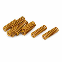 8mm Outer Dia 25mm Long Lightest Load Compression Mould Die Spring Yellow 10pcs
