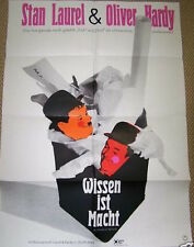CHUMP AT OXFORD German A1 movie poster R68  LAUREL and HARDY GUNTHER KIESER
