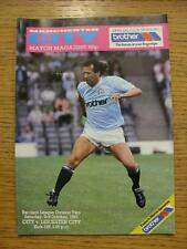 03/10/1987 Manchester City v leicester City  (Scuff Mark On Cover)