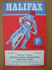 NORTHERN RIDERS CHAMPIONSHIP QUALIFYING ROUND HALIFAX 1969 SPEEDWAY PROGRAMME