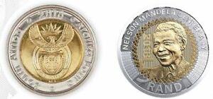 SOUTH AFRICA BIMETAL 5 RAND UNC COIN 2018 YEAR 100th ANNI NELSON MANDELA
