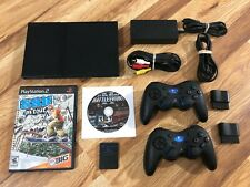 Sony Playstation 2 PS2 Slim Bundle TESTED SCPH-75001 Complete, Fast 2-3 Day Ship
