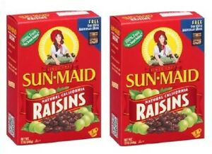 Sun Maid Natural California Raisins 2 Box Pack