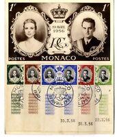 Tarjetas Postal Monaco 19 de abril 1956  sellos stamps