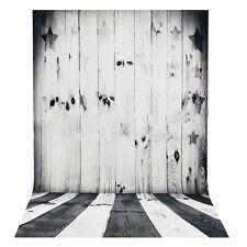 "23""x35"" Black White Wood Floor Photography Backdrop Studio Photo Background Prop"