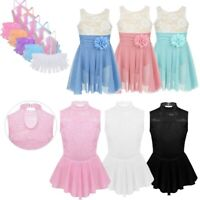 Girls Kid Ice Skating Dress Sequin Ballet Dance Tutu Leotard Competition Costume
